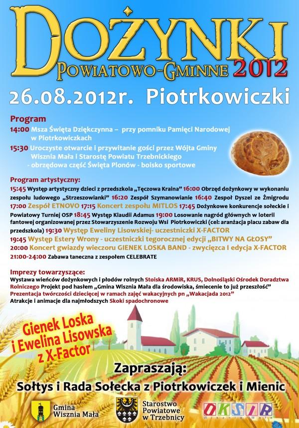 Dożynki Powiatowe-Gminne 2012