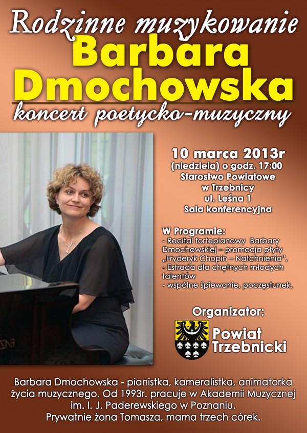 Rodzinne muzykowanie z Barbarą Dmochowską- koncert poetycko -muzyczny