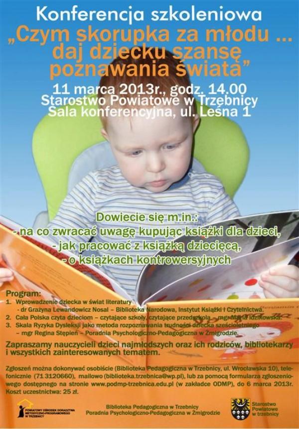 Konferencja szkoleniowa - Czym skorupka za młody, daj dziecku szansę poznawania świata